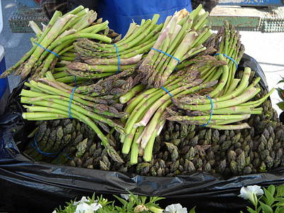 Photograph - Fresh Asparagus At Farmers Market by Kent Lorentzen