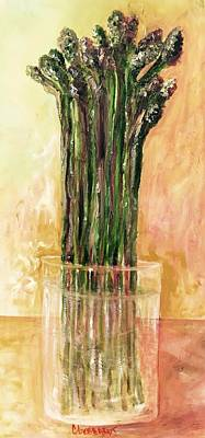 Painting - Fresh Asparagus by Chuck Gebhardt