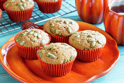 Photograph - Fresh Baked Pumpkin Muffins by Teri Virbickis