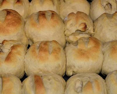 Photograph - Fresh Baked Yeast Rolls by Kristalin Davis
