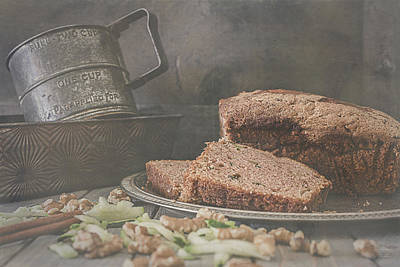 Photograph - Fresh Baked Zucchini Bread by Teresa Wilson