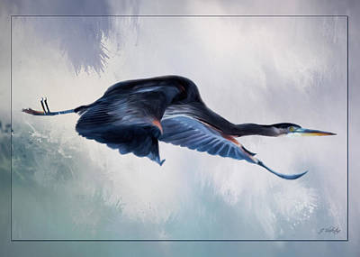 Painting - Fresh Beginnings - Heron Art by Jordan Blackstone