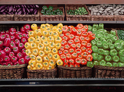 Fresh Bell Peppers At Whole Foods In New Orleans Art Print by Sean Gautreaux