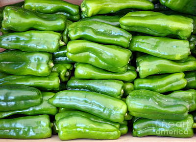 Photograph - Fresh Bell Peppers For Sale by Yali Shi