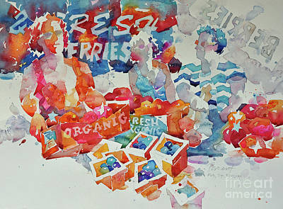 Painting - Fresh Berries by Roger Parent