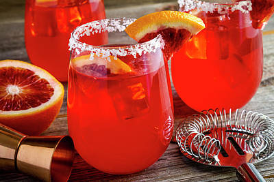 Photograph - Fresh Blood Orange Margaritas by Teri Virbickis
