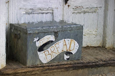 Shabby Chic Kitchen Photograph - Fresh Bread Painterly Effect by Carol Leigh