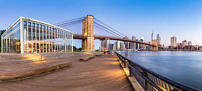 Photograph - Fresh Brooklyn Bridge Park Summer Morning by Mihai Andritoiu