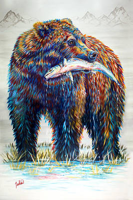 Kodiak Painting - Fresh Catch by Teshia Art
