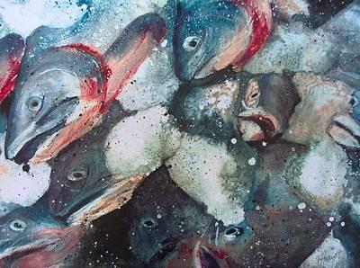 Fresh Catch Art Print by Victoria Heryet