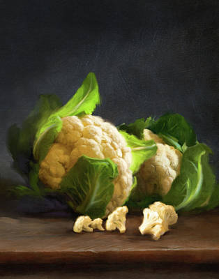 Painting - Fresh Cauliflower by Robert Papp