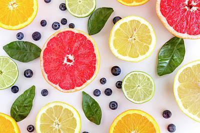 Fresh Citrus Fruits Art Print