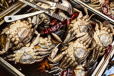Photograph - Fresh Crab At The Market by James BO Insogna