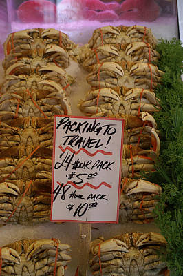 Photograph - Fresh Crabs At The Public Market by Henri Irizarri