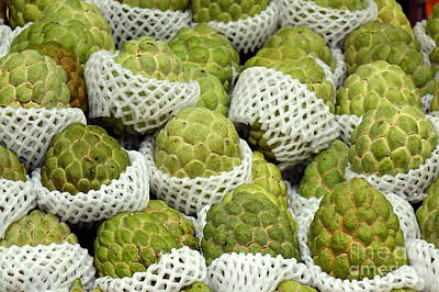 Photograph - Fresh Custard Apples by Yali Shi