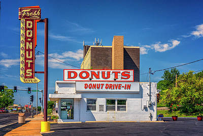 Photograph - Fresh Donuts Route 66 St Louis Dsc06007 by Greg Kluempers