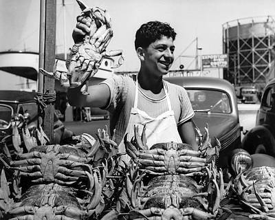 Photograph - Fresh Dungeness Crab In Sf by Underwood Archives