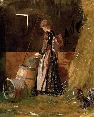 Barrel Painting - Fresh Eggs By Winslow Homer 1874 by Movie Poster Prints