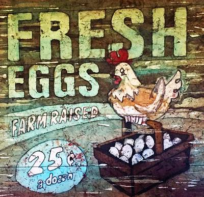 Painting - Fresh Eggs by Diane Fujimoto