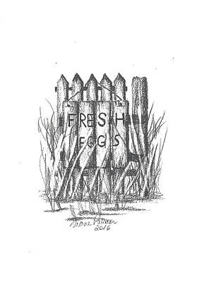 picket fence drawing. Picket Fence Drawing - Fresh Eggs By Diane Palmer Picket Fence Drawing