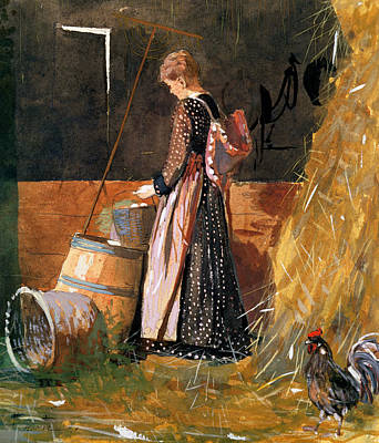Cockerel Painting - Fresh Eggs by Winslow Homer