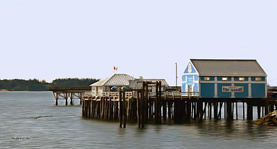 Photograph - Fresh Fish Market Sidney British Columbia Canada Painting by Barbara Snyder