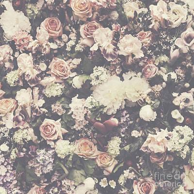 Fresh Flower Pattern Background Art Print