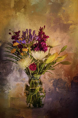 Photograph - Fresh Flowers In A Vase by Jai Johnson
