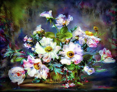 Mixed Media - Fresh Flowers by Lilia D