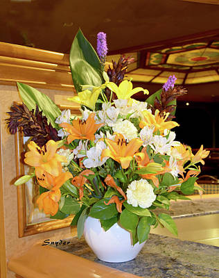 Photograph - Fresh Flowers On The Grand Princess 1 by Floyd Snyder