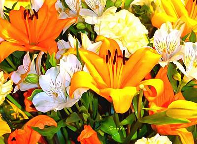 Digital Art - Fresh Flowers On The Grand Princess Painting by Floyd Snyder