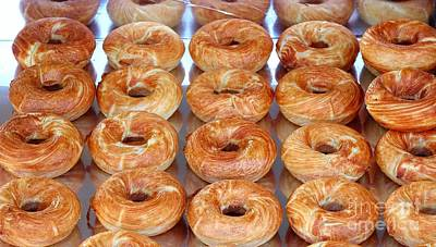 Photograph - Fresh Frosted Doughnuts On Sale by Yali Shi