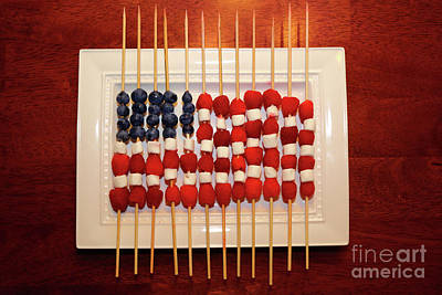 Photograph - Fresh Fruit Stars And Stripes by James Brunker