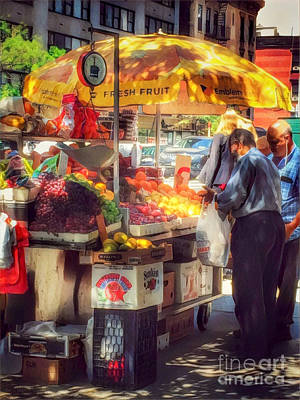 Photograph - Fresh Fruit - Street Vendors Of New York by Miriam Danar