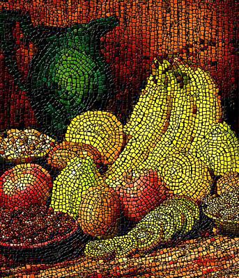 Fresh Fruit Tiled Art Print by Stephen Lucas
