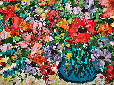 Painting - Fresh Garden Flowers by Natalie Holland