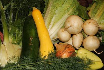 Photograph - Fresh Garden Produce by Allen Nice-Webb