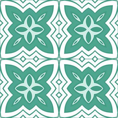 Digital Art - Fresh Green Modern Decor Design by Georgiana Romanovna