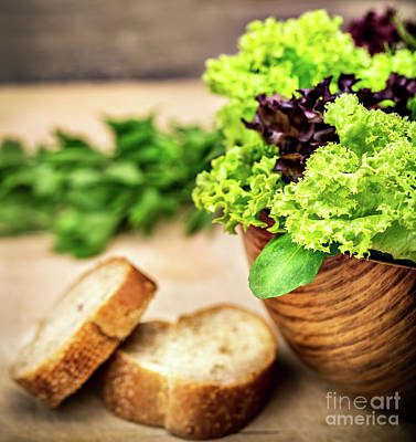 Photograph - Fresh Green Salad by Anna Om