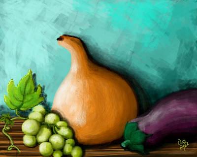 Purple Grapes Digital Art - Fresh Harvest  by Lourdes BAtista