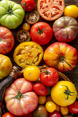 Photograph - Fresh Heirloom Tomatoes by Teri Virbickis