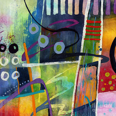 Print featuring the painting Fresh Jazz In A Square by Hailey E Herrera