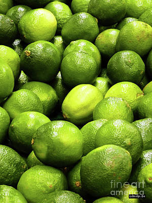 Photograph - Fresh Limes by Methune Hively