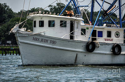Photograph - Fresh Local Shrimp Off The Boat by Dale Powell