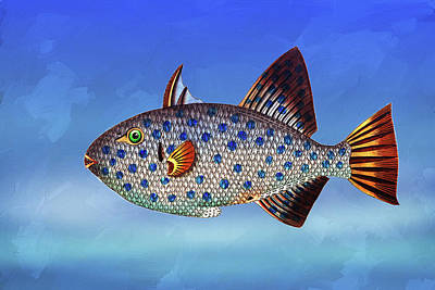 Mixed Media - Fresh Morning Fish by Georgiana Romanovna