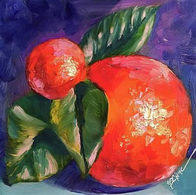 Painting - Fresh Oranges by Donna Pierce-Clark