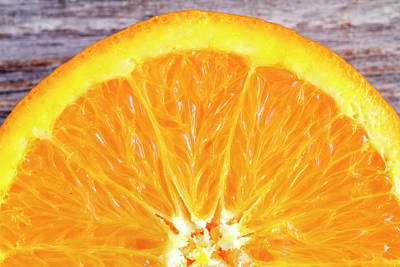 Photograph - Fresh Organic Navel Orange Fruit by Teri Virbickis