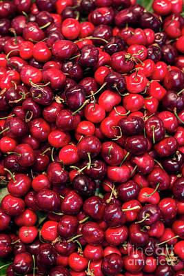Photograph - Fresh Organic Red Cherries On Display by Jacek Malipan