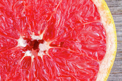 Photograph - Fresh Organic Ruby Red Grapefruit by Teri Virbickis