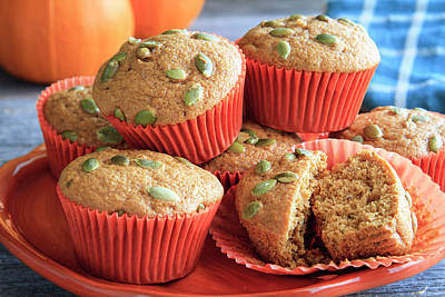 Photograph - Fresh Out Of The Oven Pumpkin Muffins by Teri Virbickis